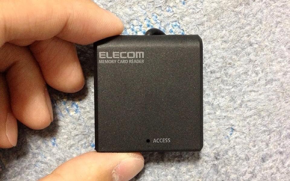 MBA用に買ったエレコムのメモリーカードリーダーが超コンパクトで使いやすい!