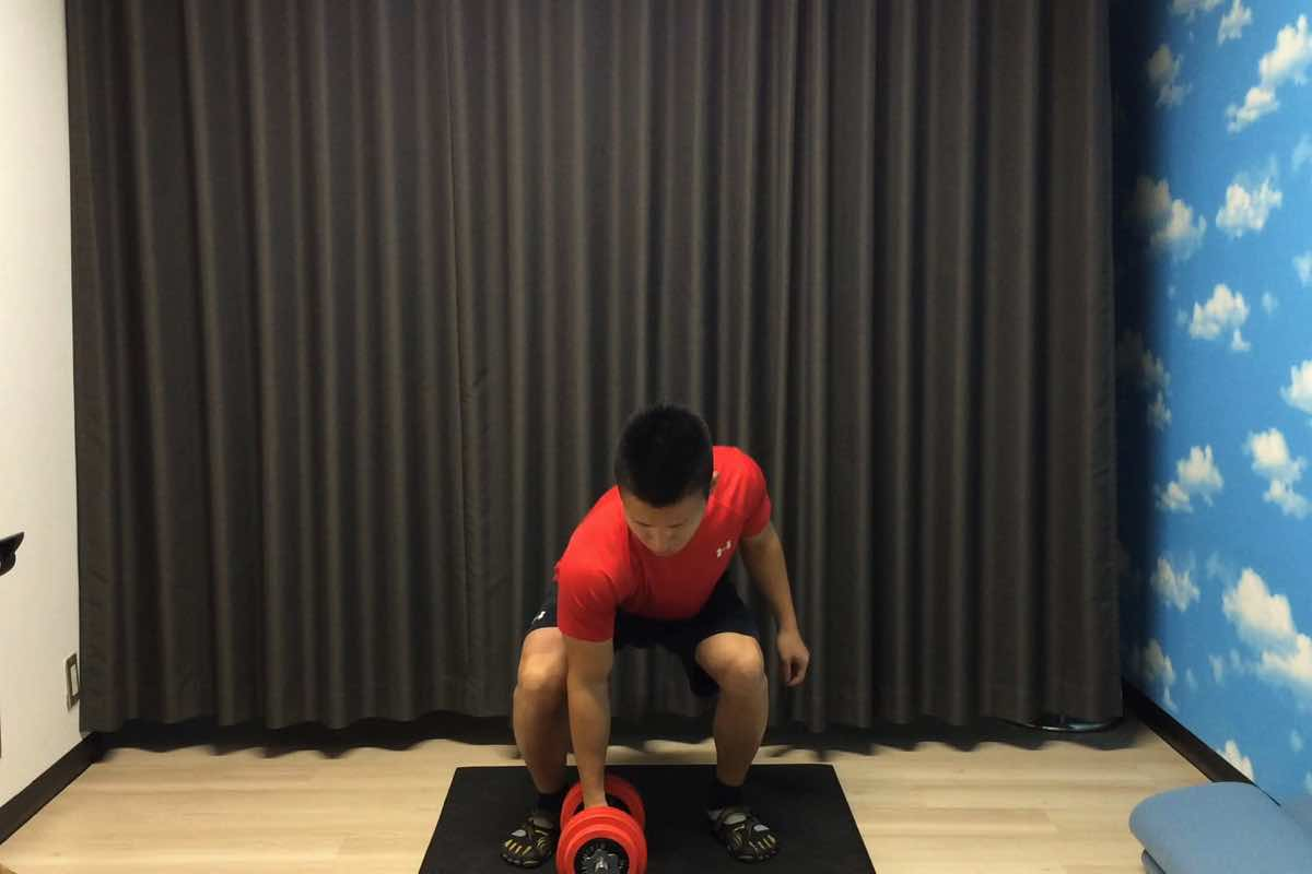 Dumbbell clean 01