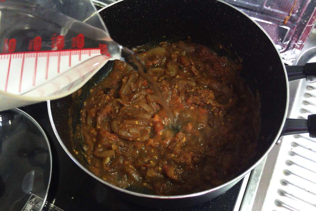 Eggplant keema curry 13