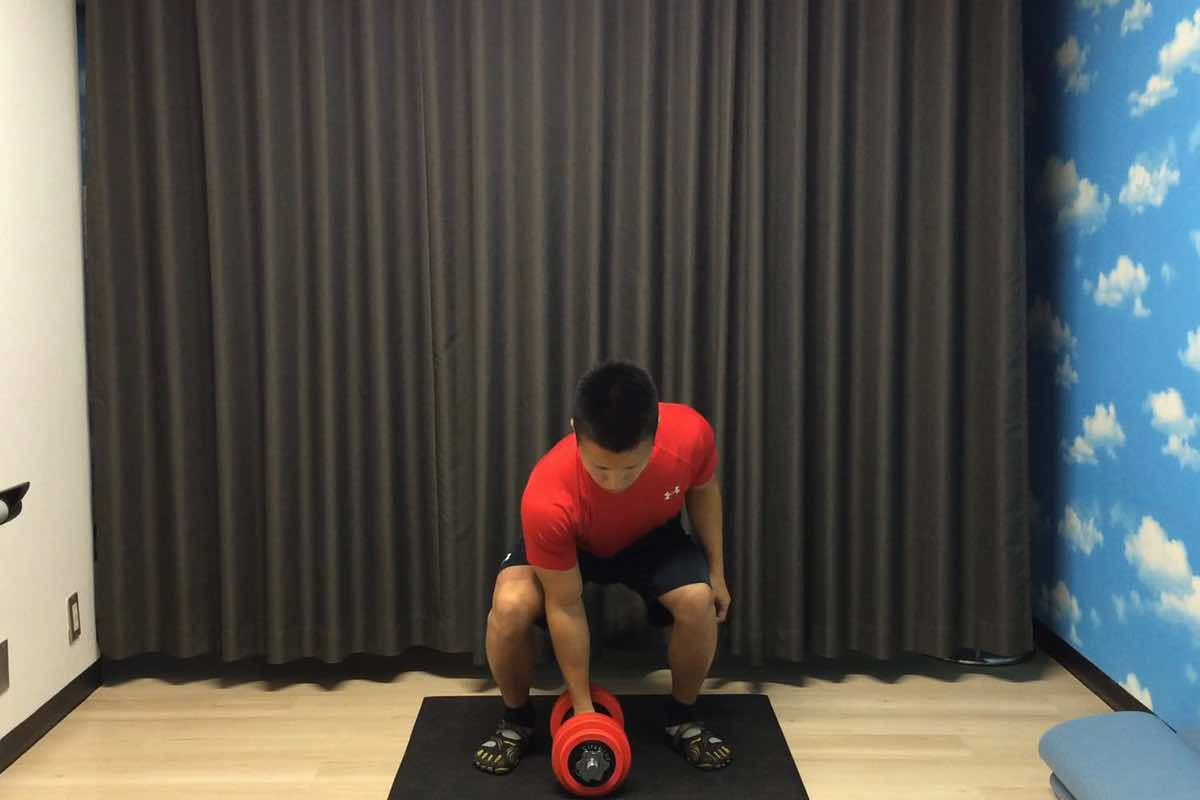 Dumbbell clean press 01