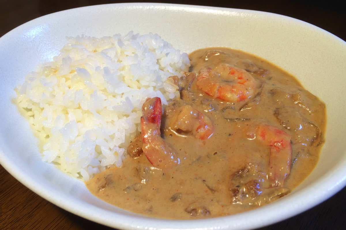 Soy milk shrimp curry