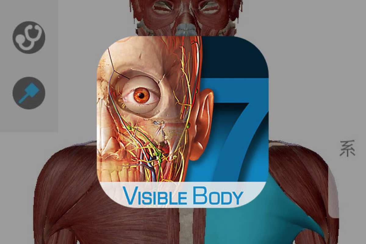 人体の3Dモデルを見るためのiPhoneアプリ「ヒューマン・アナトミー・アトラス」