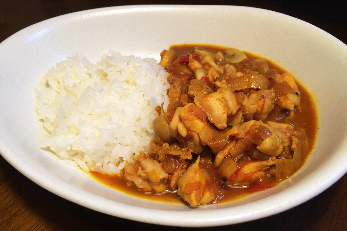 Mushroom chicken curry