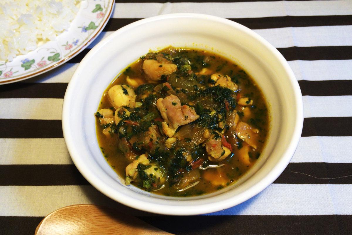まろやか食感の「ほうれん草チキンカレー」のレシピ