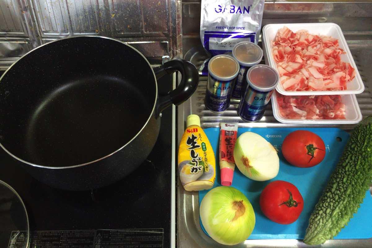Bitter melon pork curry 01