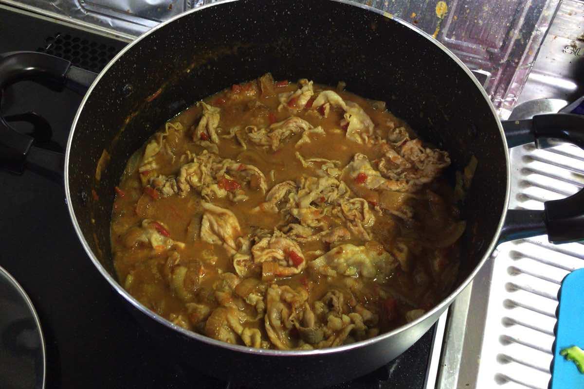 Bitter melon pork curry 13