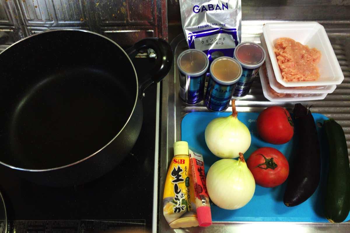 Zucchini keema curry 01