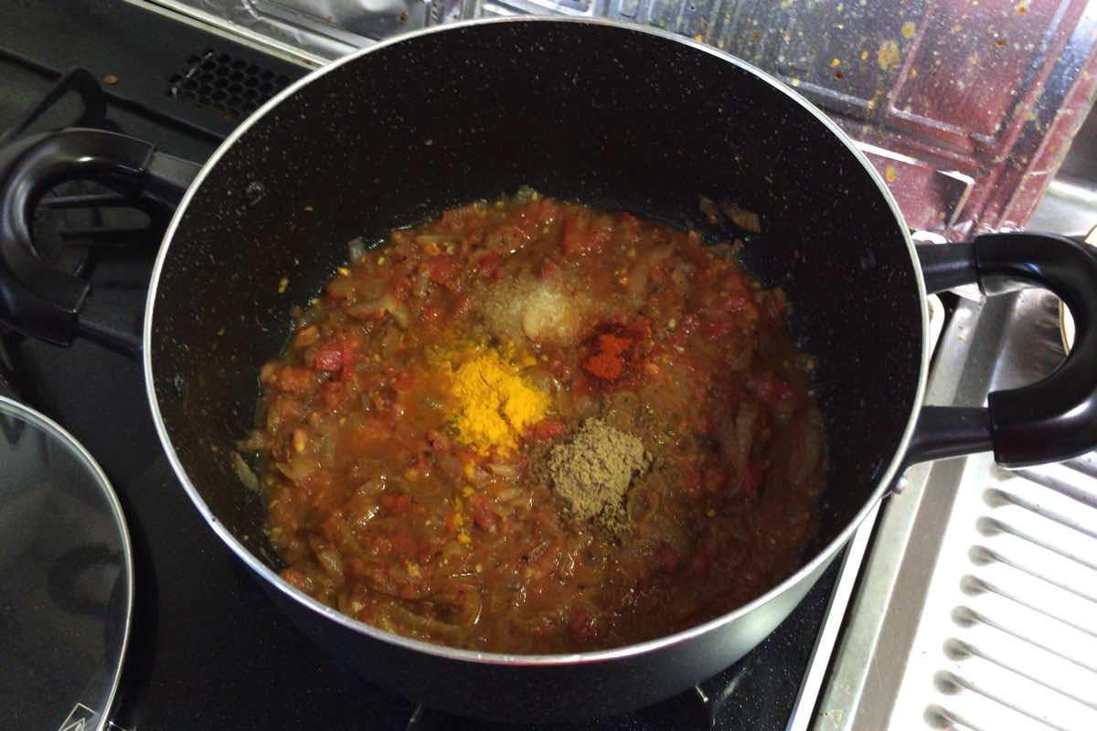 Zucchini keema curry 10