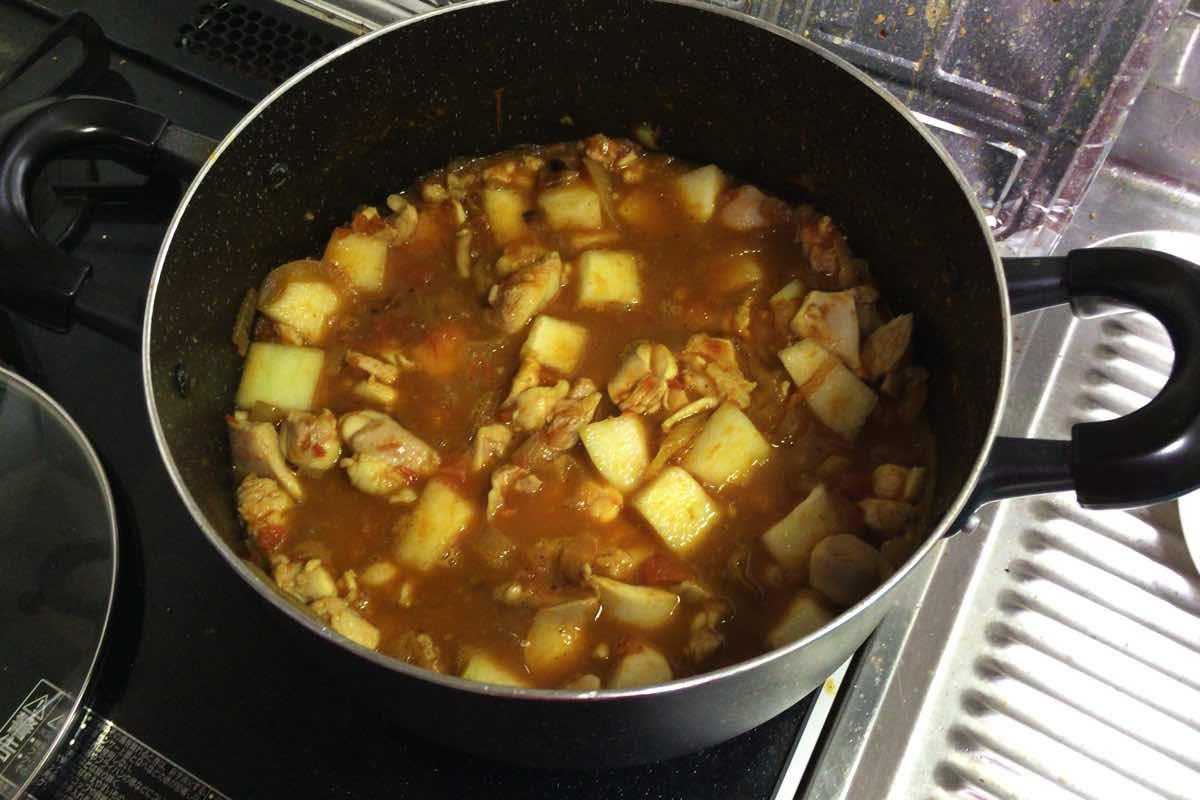 Tougan chicken curry 14