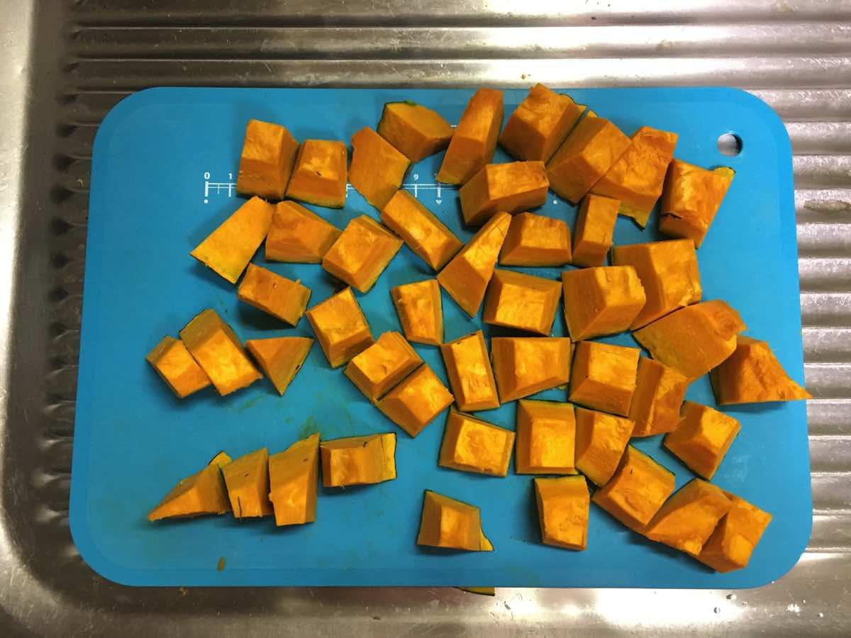 Soymilk pumpkin keema curry 04