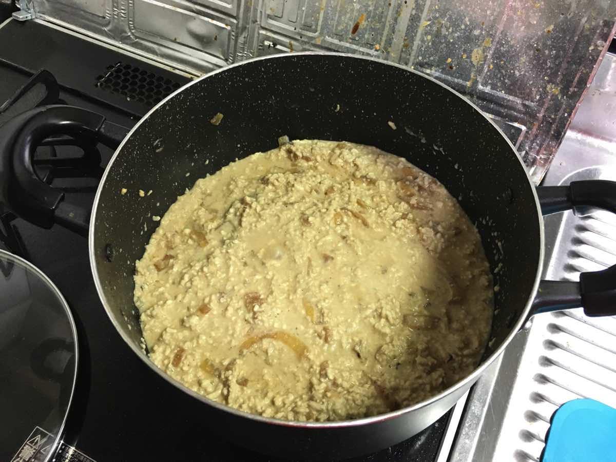 Soymilk pumpkin keema curry 11
