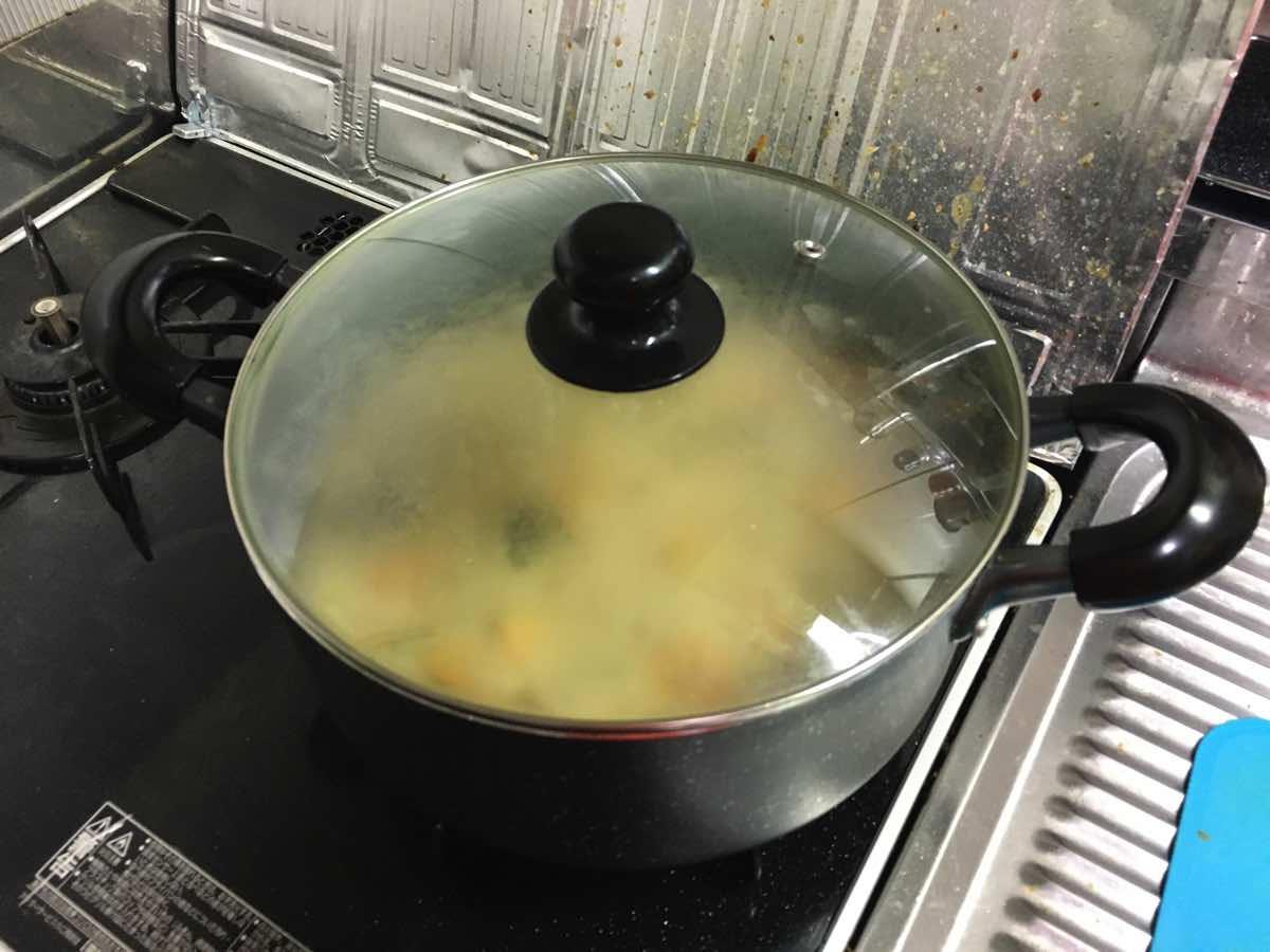 Soymilk pumpkin keema curry 13